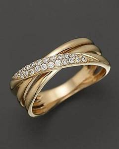 diamond crossover band in 14k yellow gold 15 ct tw With bloomingdales wedding rings