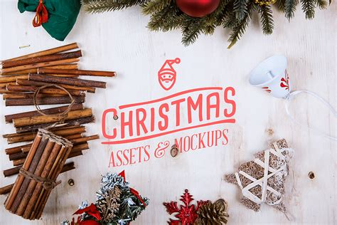 christmas assets mock  pack  behance