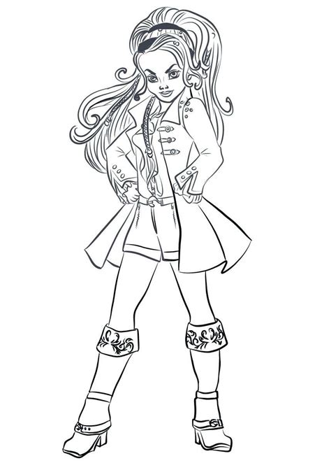 kids  funcom  coloring pages  disney descendant