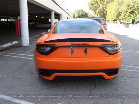 maserati orange maserati granturismo s orange and carbon wrap autoevolution