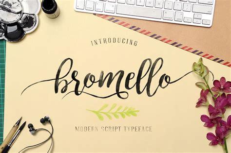 bromello typeface script fonts  creative market