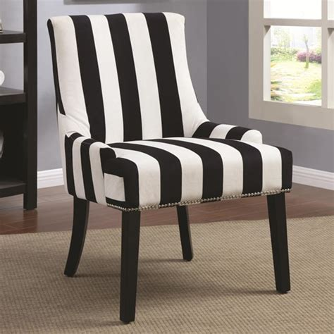 black white stripe armless upholstered chair ebay