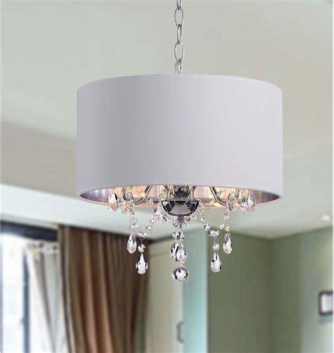 drum pendant chandelier white shade 3 light