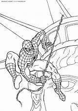 Coloring Pages Spiderman Games Popular sketch template