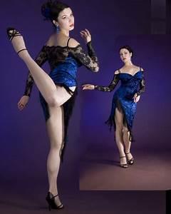 Milonga at Midnight Intense Blue velvet with Black lace