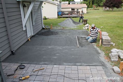 the paver patio project southern hospitality