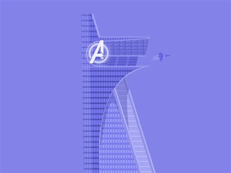 avengers tower  raikchak ha reang  dribbble