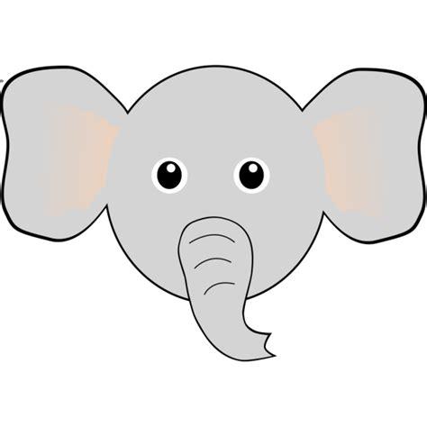 funny elephant face cartoon png svg clip art  web
