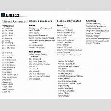 Memo Vocabulary List For Fce Unit 12