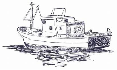 Sketch Boat Fishing Interactions Reader