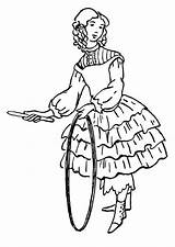 Hula Coloriage Fille Coloring Cerceau Colorear Kleurplaat Hoepel Avec Jeune Hoop Aro Meisje Met Colorare Hulahup Ragazza Disegno Chica Dibujo sketch template
