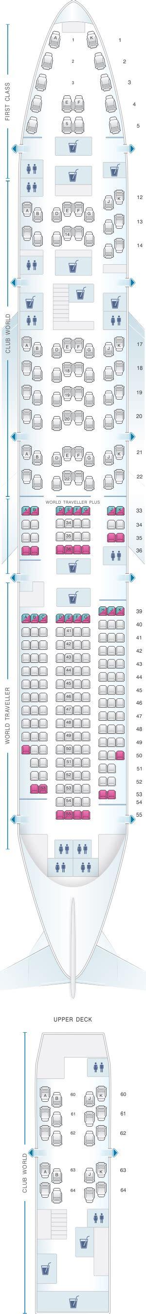 mapa de asientos airways boeing b747 400 275pax plano avión seatmaestro es