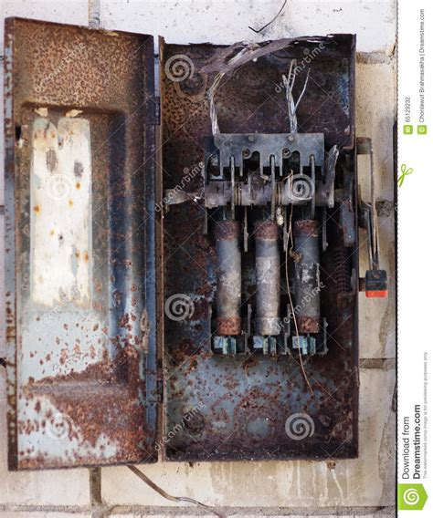 Burnt Breaker Fuse Box by Burned Fuse Box Stock Photo Image Of House Electric