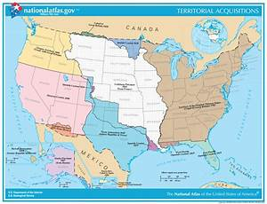 Map Of U S  Territorial Acquisitions Since 1783