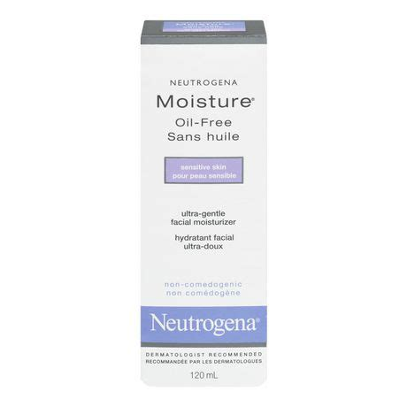 neutrogena moisture oil  ultra gentle sensitive skin