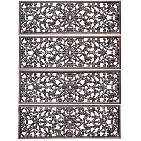 Outside Door Mats For Steps by Improvements Scroll Antique Copper Rubber Stair
