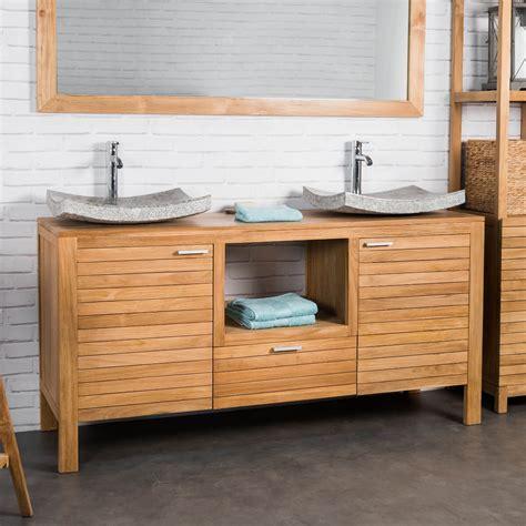 meuble sous vasque vasque meuble salle de bain teck courchevel 160cm
