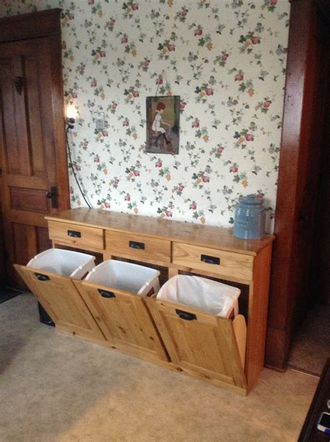 trash  recycling cabinet kitchen cabinet storage