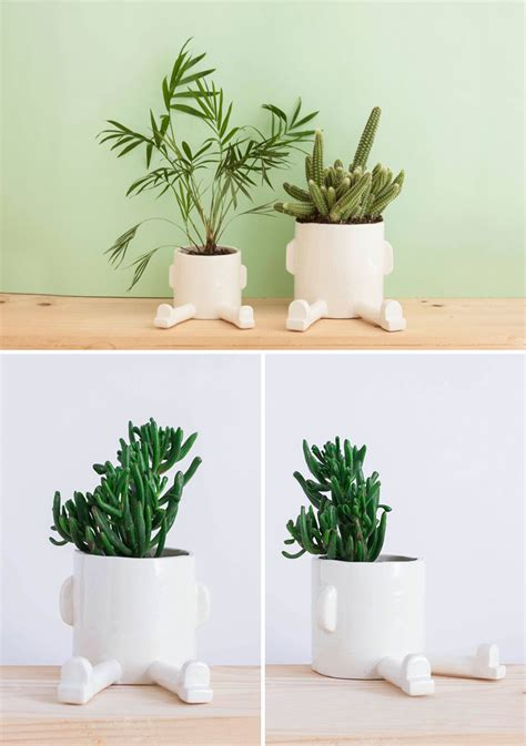 modern ceramic planter and functional tabletop planters are an easy addition