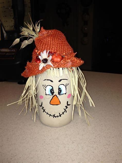 mason jar scarecrow harvest decorating ideas halloween