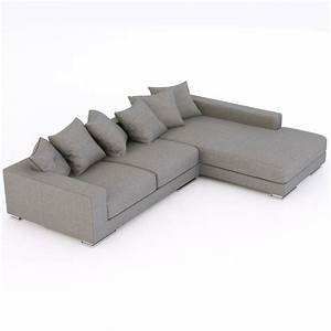 modern sofa 7 3d models cgtradercom With couch sofa 3d model