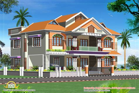 Double story luxury home design - 3719 Sq. Ft.