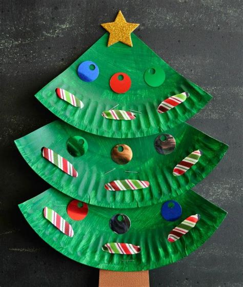 The Coolest Holiday Crafts For Kids  Paper Plate Trees