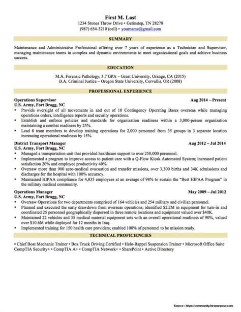 free to civilian resume sles resume resume