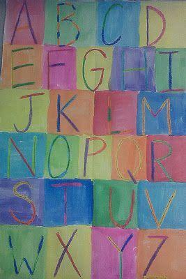 jasper johns alphabet  images kindergarten art