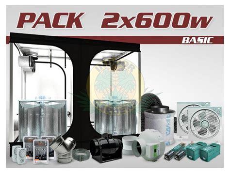 kit chambre culture pack chambre de culture ventilé indé 2x600w hps grolux