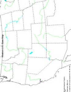 Blank West Region United States Map
