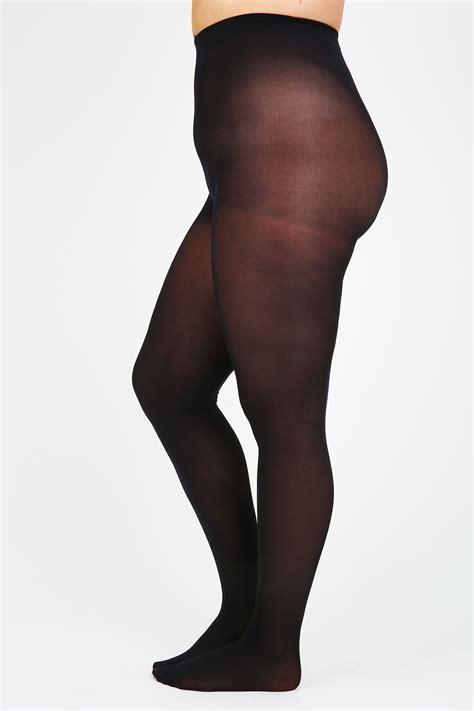black  denier opaque tights  size