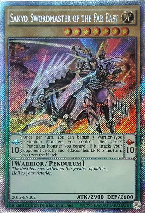 Card Tipssakyo Swordmaster Of The Far East Yu Gi Oh