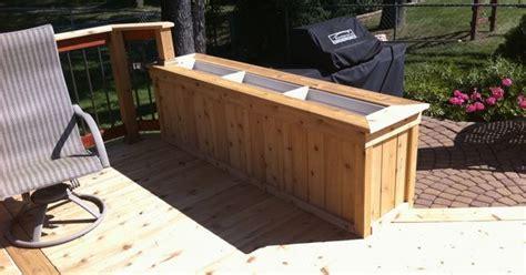 cedar planter box built  tongue  groove