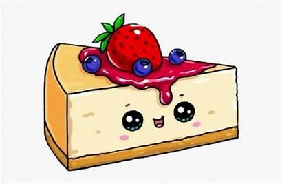 Kawaii Cheesecake Cake Drawing Drawings Strawberry Desenhos