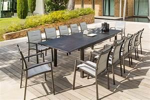 Table De Jardin Tressé : table de jardin avec chaise salon de jardin tresse resine ~ Nature-et-papiers.com Idées de Décoration
