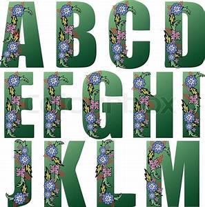 Große Deko Buchstaben : gro e gr ne buchstaben des alphabets mit blumen geschm ckt stock vektor colourbox ~ Markanthonyermac.com Haus und Dekorationen