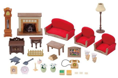 Sylvanian Families Kitchen And Living Room Collection : Luxury Living Room Set
