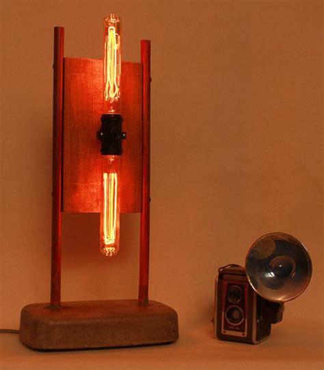 edison bulb desk l table l desk l edison l vintage industrial