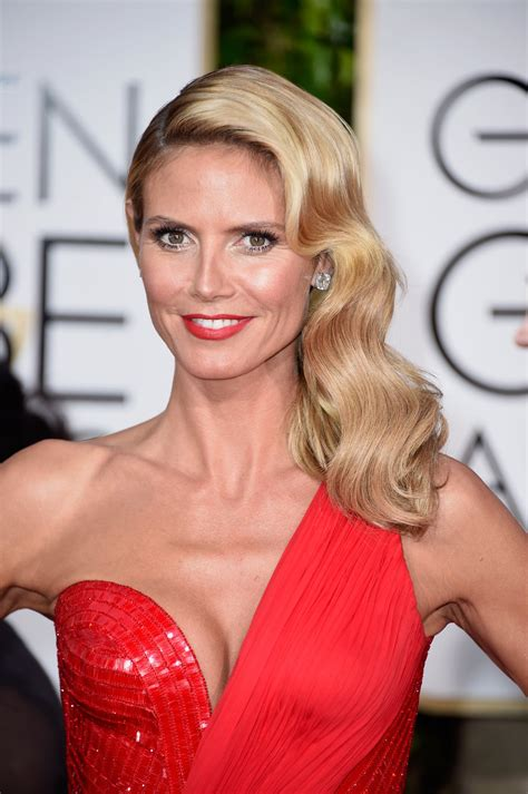 Heidi Klum All The Golden Hair And Makeup Looks From The