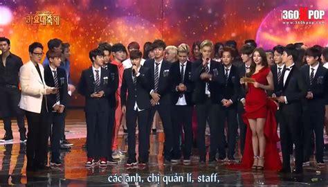 exo kbs vietsub 131227 kbs gayo daejun exo song of the year