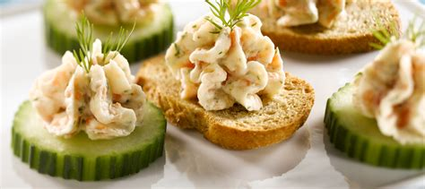 canape saumon smoked salmon mousse canapes recipe dairy goodness