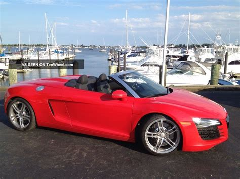 convertible audi red 2012 audi r8 spyder convertible 2 door 4 2l red