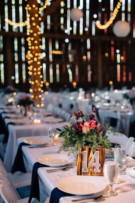 fall barn wedding reception
