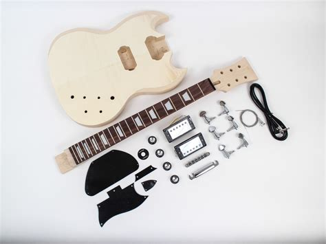 les paul style guitar kit spalted maple diy guitars
