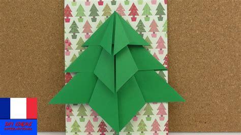 sapin de no 235 l en pliage sapin en origami 224 faire soi m 234 me carte de no 235 l d 233 coration diy