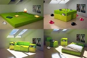 Meuble Pour Petit Espace : multiplo un mobilier modulable pour espace restreint ~ Premium-room.com Idées de Décoration