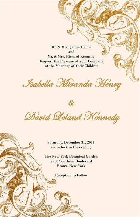 Elegant and Beautiful Wedding Invitations for Free