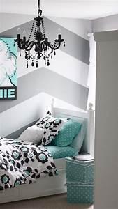 Cute-chevron-wallpaper-girl-bedroom, -, Home, Decorating, Trends
