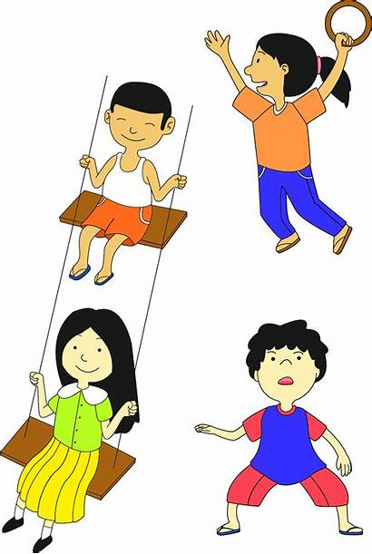 Anak Playing Kartun Cartoon Multicultural Gambar London